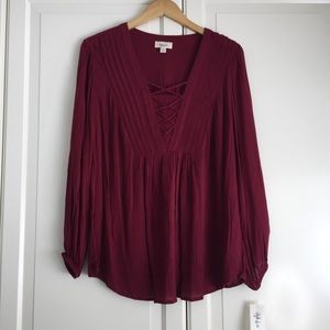 🍏2 for $60🍏 Style & Co Beet Red Blouse